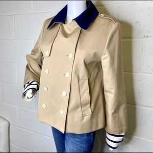 J crew coat with detachable cuffs size 12